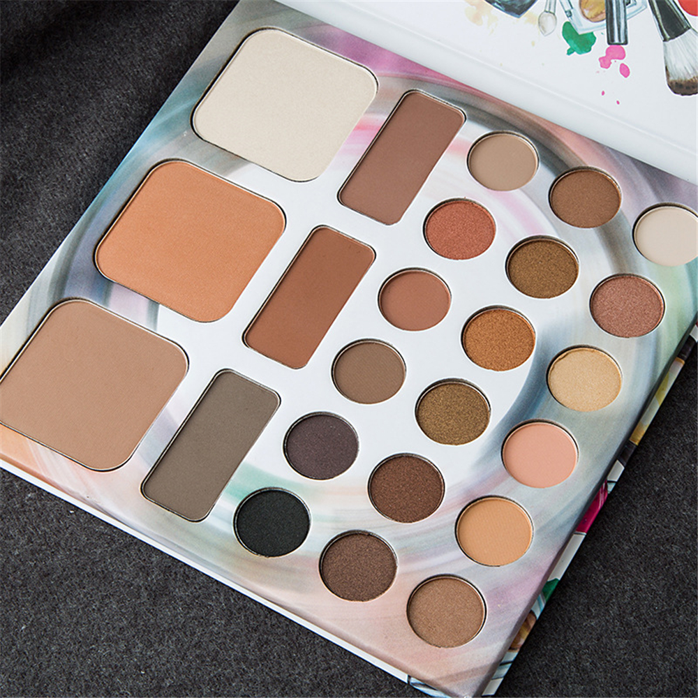 WORLD COLOR Makeup Set Multicolor Eyeshadow Palette Eyebrow Powder Highlighter Shading Powder 24 Colors Make up beauty Kits