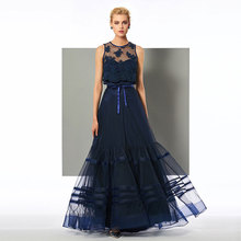 Tanpell scoop neck evening dress appliques sleeveless floor length a line gown women party custom formal long evening dresses все цены