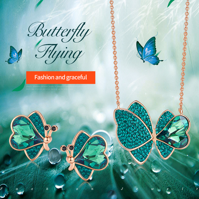 Fashion Jewelry Sets - Forest Biome - 18K Rose Gold 1