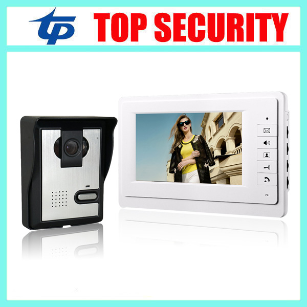 7inch color screen video door phone IP64 waterproof door access control 7 video intercom wired door bell color video door phone 7 inch password id card video door phone home access control system wired video intercome door bell