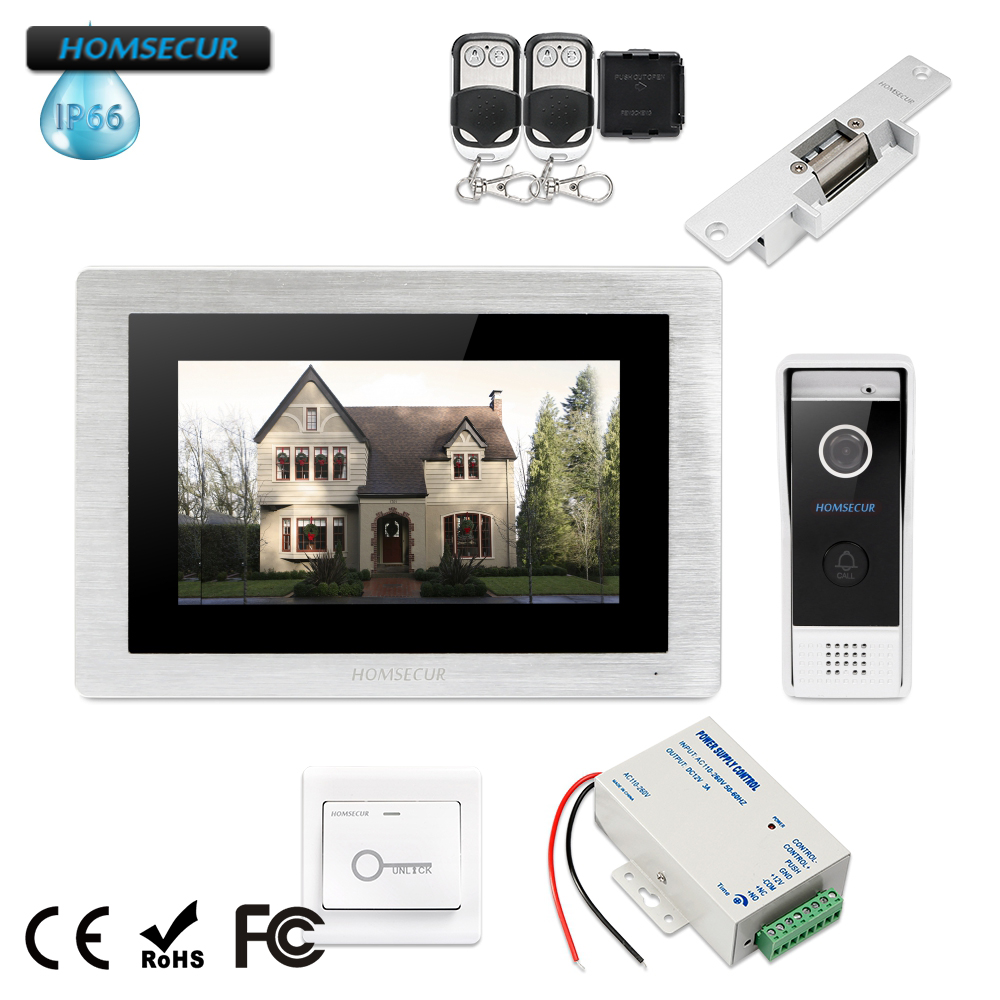HOMSECUR 7 Video&Audio Smart Doorbell+Aluminium Alloy Camera for Home Security  BC031-B + BM714-SHOMSECUR 7 Video&Audio Smart Doorbell+Aluminium Alloy Camera for Home Security  BC031-B + BM714-S