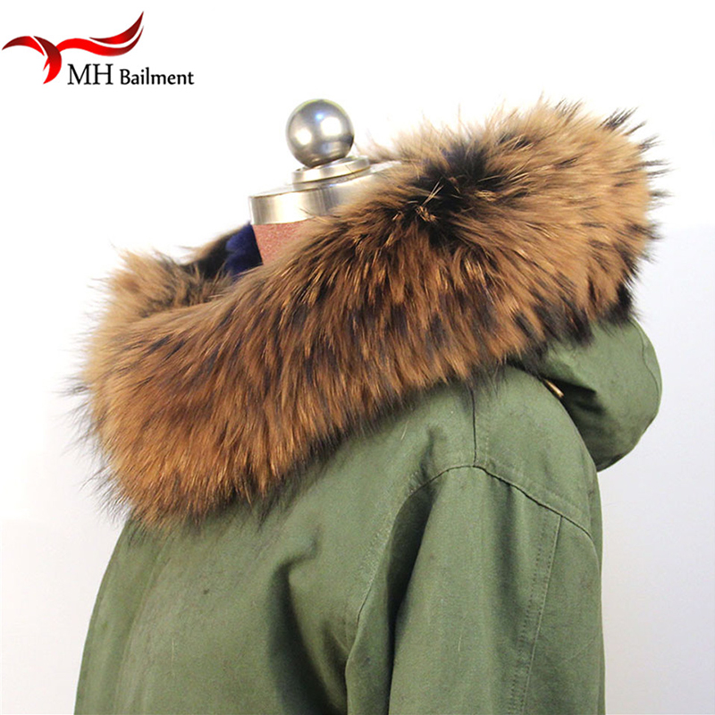 100% Echt Jacke Pelz Schal Frauen Winter Mantel Luxus Waschbär Fell Schals Echte Warme Hals Wärmer Schal Schal, Hut Handschuh Sets SchöNe Lustre