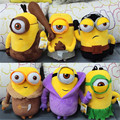 2015 New 6pcs/lot Minions Cosplay Vampire & Primitive & Pirate Model 3D Movie & TV Plush Baby Toy Minion Christmas Birthday Gift