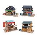 Modelo 3d Puzzle Modelo Consruction Sabor Japonês Definir Quatro Cena para Crianças Jigsaw Puzzle Brinquedos