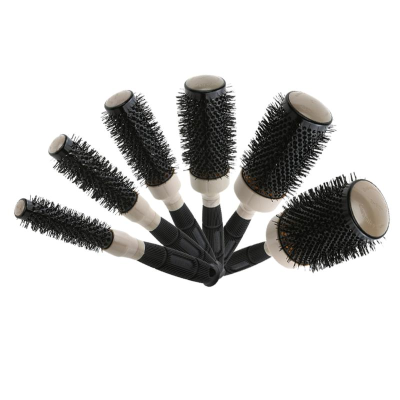 Professional Hairdressing Hairbrush Natural Curly Roller Hair Comb Brush Salon Ceramic Air Heat Lead Hairbrush Styling Comb Tool