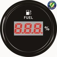 Auto Instrument Panel Fuel Gauges 52mm Digital Display Fuel Level Meters 0 100% Waterproof Fuel Tank Gauges 9 32v with Backlight