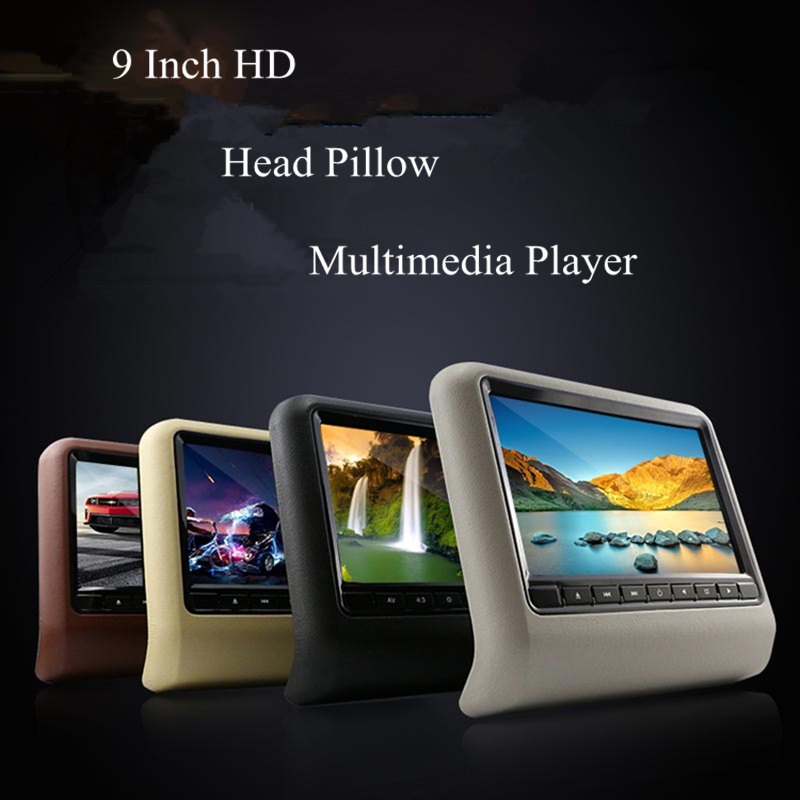 9  Car head pillow screen high-definition LCD color screen plug-in type DVD display built-in game pad and CD-ROM games Newest female head teachers administrative challenges in schools in kenya