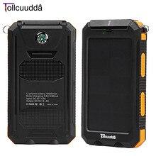 10000 мАч двойной USB внешний Baterías portátiles для смартфонов Портативный быстро Зарядное устройство Батарея свет Водонепроницаемый Мощность банк