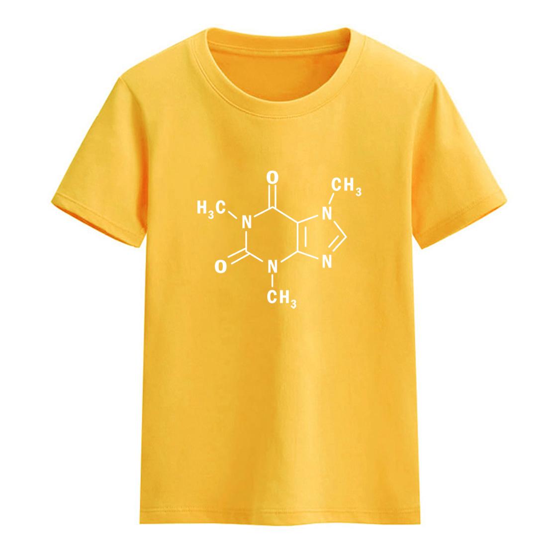 HTB1RWv6bD0ATuJjSZFEq6yp2FXaN - 2017 children T-shirt summer The Big Bang Theory famous T-shirts for girls Caffeine Molecular Formula Sheldon boys t shirt top
