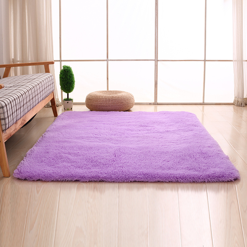 Solid Living Room Carpet Mat Bedroom Candy Color Soft Home Decorating Hotel Commercial Floor Decorative Rectangle
