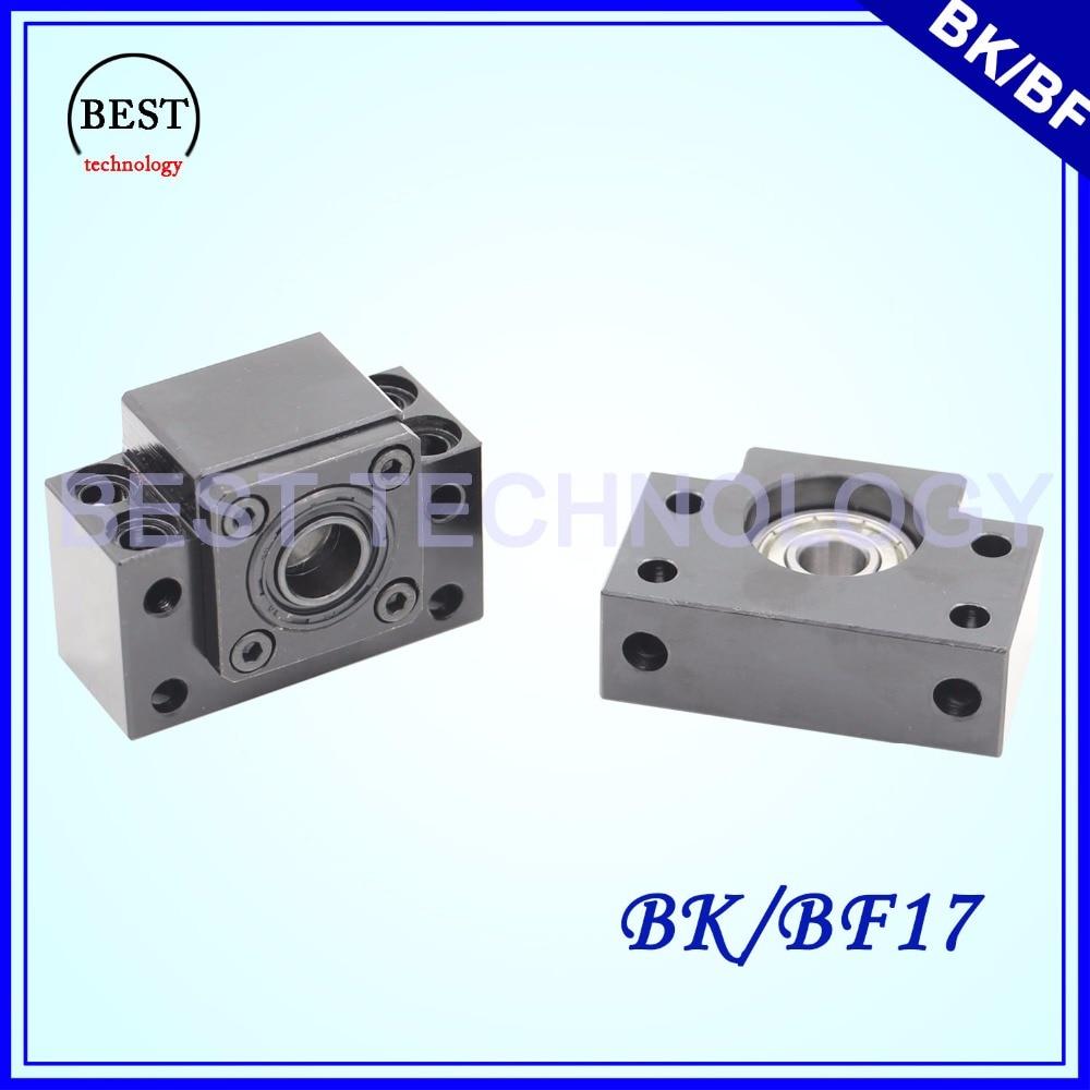 BK 17 & BF 17 Ball Screw End Machine Support BK17 & BK15 For Ball Screw SFU2005 / SFU2010 or SFU 2505/SFU 2510 ball pm2096b s1j bk ball