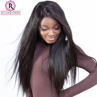 Rosa Queen Full Lace Human Hair Wigs For Black Women Brazilian Straight Remy Hair 130 Density