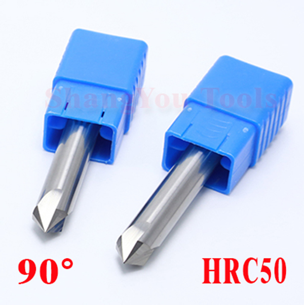 3pcs lot 8mm 90degree HRC50 Solid carbide chamfering milling cutter Chamfer route bits for Aluminum