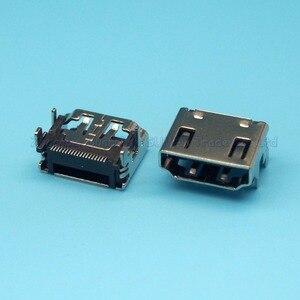 Interface HDMI 19P, 25 pièces/lot, prise femelle TYPE A, prise SMT