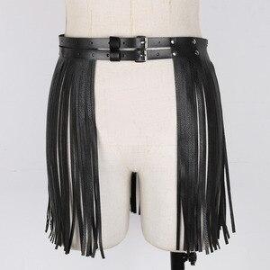 Image 4 - נשים מבוגרים מתכוונן פו עור חגורת פרינג טאסל חצאית חגורת מועדון לילה תלבושות קוספליי מסיבות חצאיות עבור ליל כל הקדושים