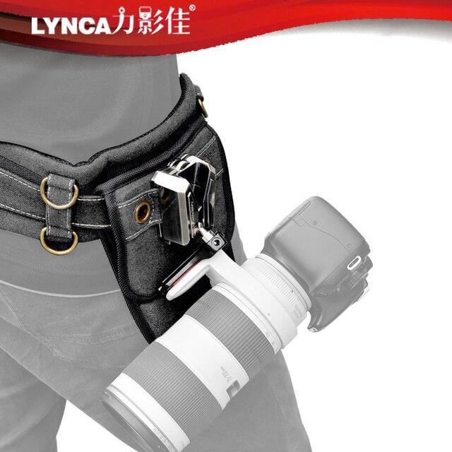 Correa de aleación para cámara Sony Canon Nikon SLR, accesorio de cintura para colgar en la cintura, con placa de hebilla, Correa SLR, placa de cama en la nube y billetera