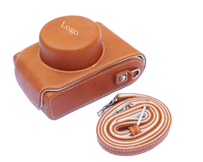 New Luxury Leather Video Camera case Bag For Leica D-LUX Type 109 Camera with Leica logo brown color