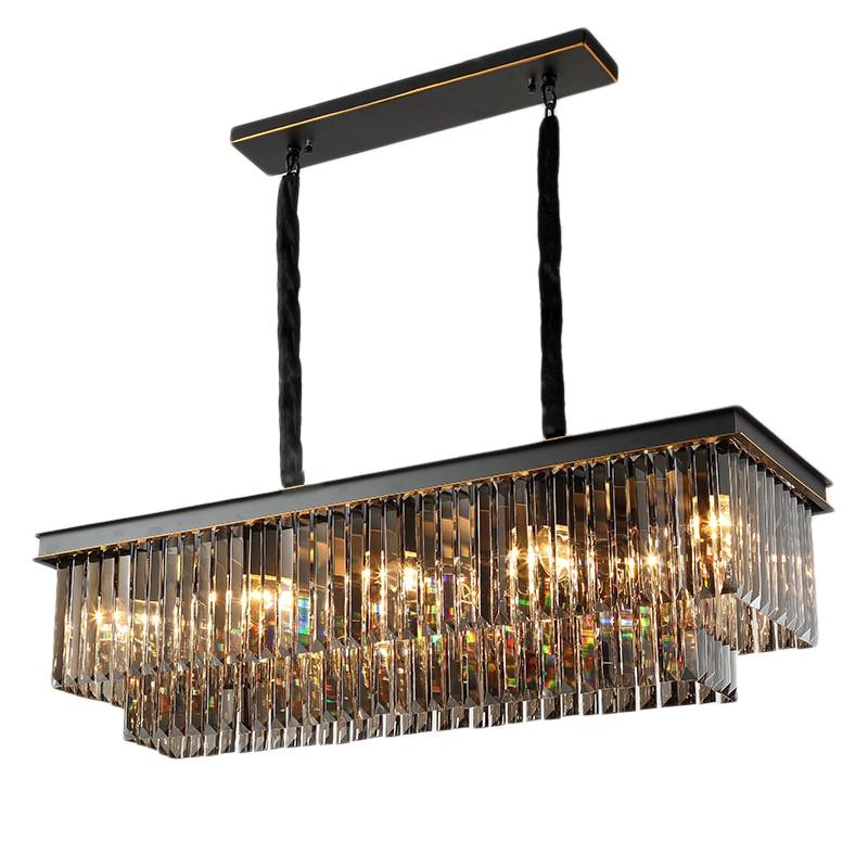 US $284.76 16% OFF|Rectangular Chandelier Modern Restaurant Lights Crystal  Chandelier Luxury Dining Room Lamp Bar Modern Chandelier Nordic Light-in ...