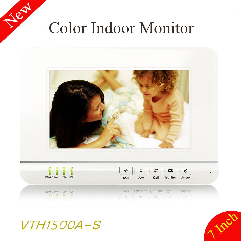 100% Original DH 7 inches Color Indoor Monitor Original English Version without Logo VTH1500A-S support hand-free calls xim lamps 5j 06w01 001 cb bare lamp projector bulbs for benq mp723 mp722 ep1230