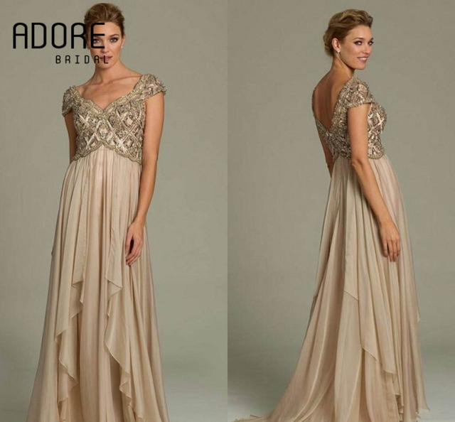 Champagne Gold Mother of the Bride Dresses