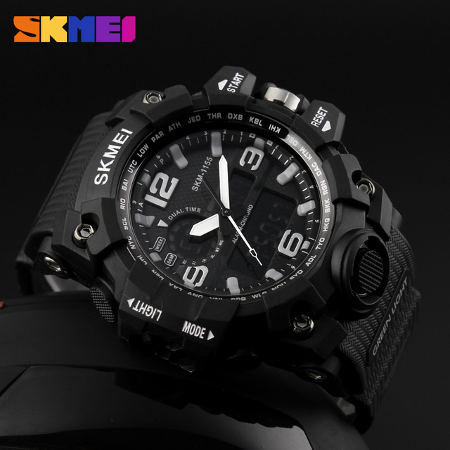 Mens Watches Top Brand Luxury Fashion LED Digital Quartz Watches Sports Wrist watch Montre Homme Male Clock relogio masculino