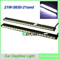 1Pair Ultra Thin 21W 5630 21 SMD LED Car Daytime Light Fog Light Head Lamp Universal