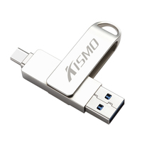 Kismo USB3.0 유형 C 플래시 드라이브 16gb 32gb 64gb 128gb Type-c 메모리 스틱 type-C 펜 드라이브 삼성 S8 S9 화웨이 메이트 20 P10