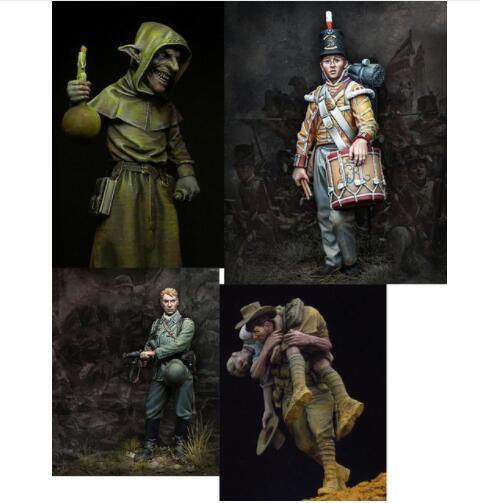 Unpainted Kit 1 24 75mm Sergeant and Goblin Resin Figure miniature garage kit