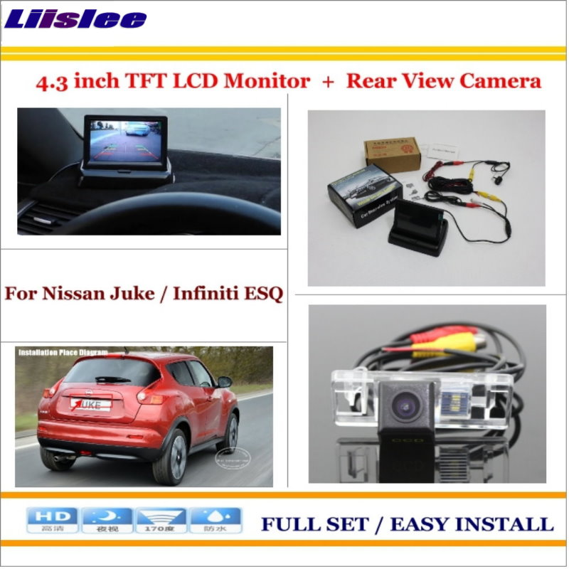 Liislee For Nissan Juke / Infiniti ESQ Car Reverse Rear Camera + 4.3 TFT LCD Monitor = 2 in 1 Parking System