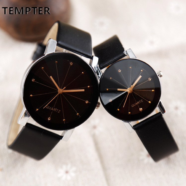 Splendid Watches Men Women Luxury Brand TEMPTER Quartz Dial Clock Leather Round Casual Wrist watch Relogio masculino black watc splendid brand new boys girls students time clock electronic digital lcd wrist sport watch