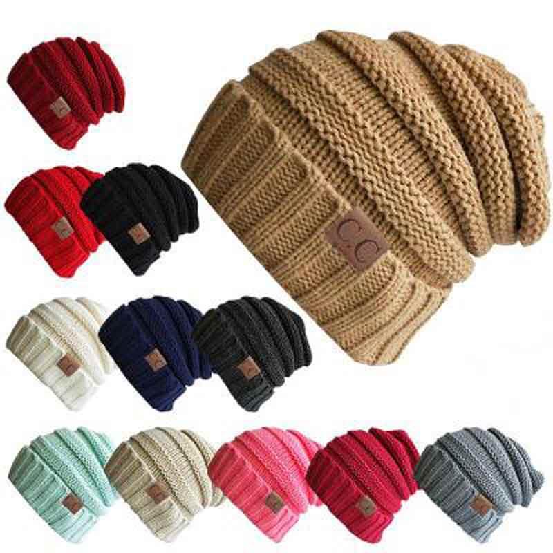 JTVOVO Unisex Winter Knitted hat Woolen Cap women Casual hat
