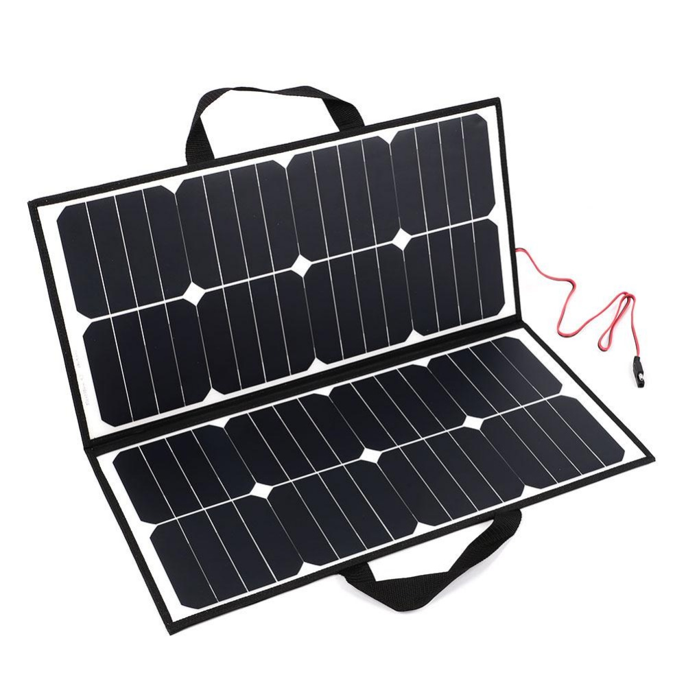 Portable 50W 18V Solar Panel Camping Waterproof Folding Solar Power Panel Charger For Battery Covenience машинка для стрижки волос remington pg6070