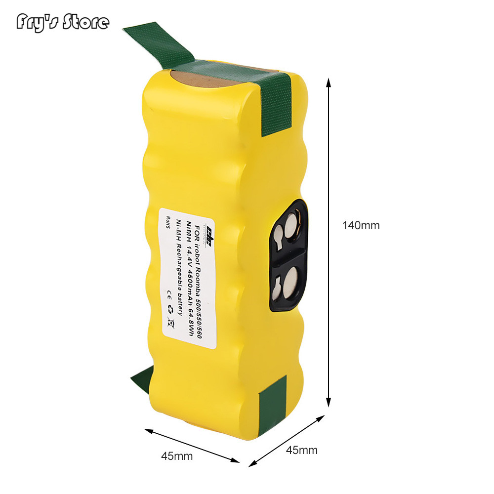 14.4V 4500mAh NI-MH Battery For iRobot Roomba 500 560 530 510 562 550 570 581 610 650 790 780 532 760 770 Vacuum Cleaner14.4V 4500mAh NI-MH Battery For iRobot Roomba 500 560 530 510 562 550 570 581 610 650 790 780 532 760 770 Vacuum Cleaner