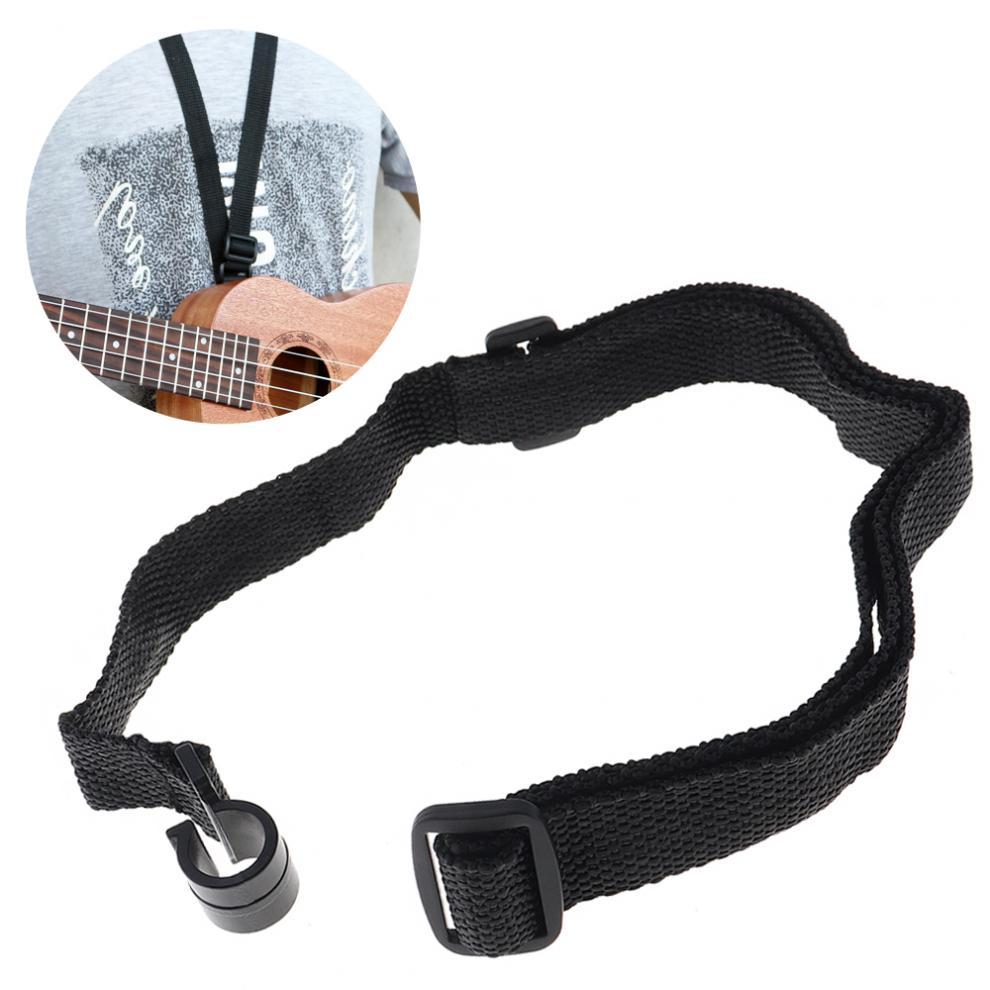 46 - 58cm Universal Adjustable Durable Nylon Ukulele Strap Neck Hanging Belt with Plastic Ends for Ukulele