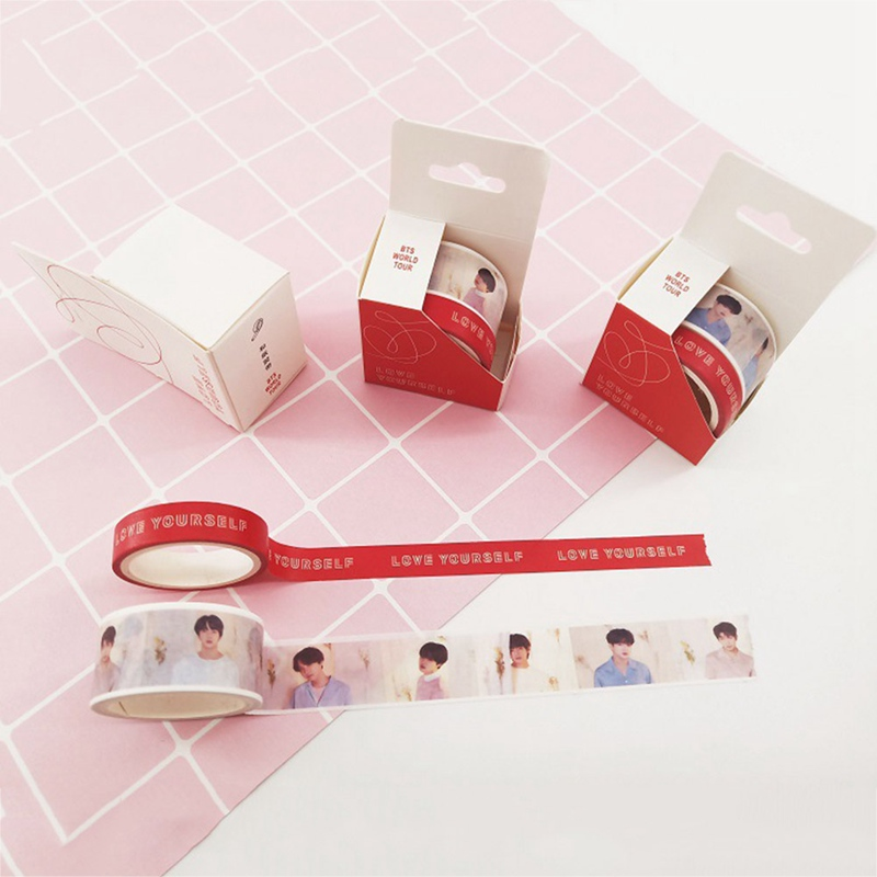 Office Adhesive Tape 2pcx/box Kpop Bts Cute Washi Tape Love Yourself Answer Paper Masking Scrapbook Notebook Sticker Diy 2cm*5m*2 Tapes, Adhesives & Fasteners