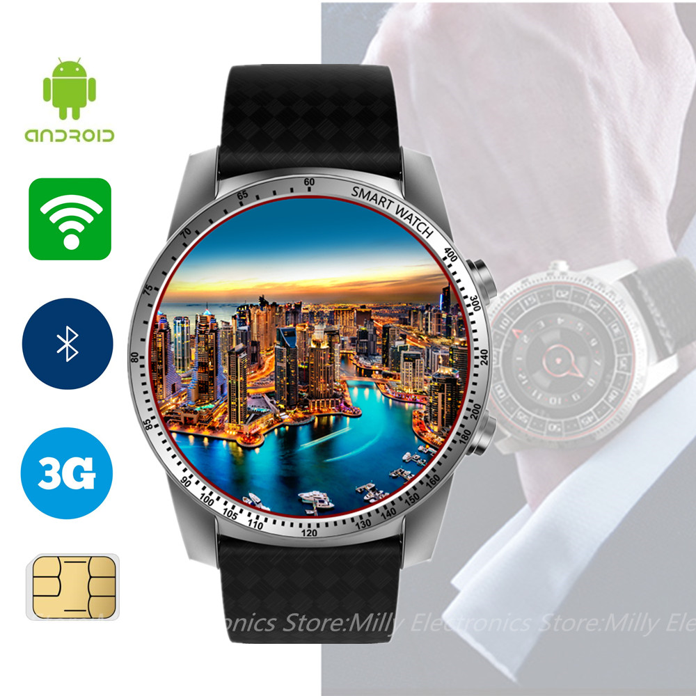 KINGWEAR KW99 Smart Watch Android 5.1 MTK6580 Bluetooth 3G WIFI GPS Watch Phone 8GB ROM Heart Rate Monitoring Smartwatch For Men