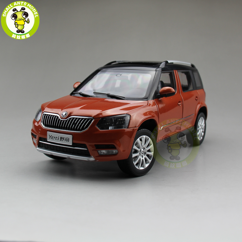 1/18 VW Skoda Yeti City SUV Diecast Metal SUV CAR MODEL gift hobby collection Orange