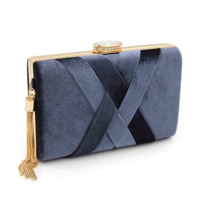 Women Suede Tassel Evening Bags 1
