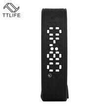 Модные TTLIFE бренд USB LED Watch браслет в режиме реального времени калорий 3D Шагомер Смарт Браслеты сердечного ритма Мониторы умный Браслет