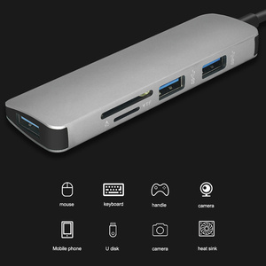 Image 5 - USB C концентратор 5 в 1, USB 3,0/TF /SD адаптер, зарядный порт, Тип C концентратор для MacBook Pro Samsung Galaxy S8 S9 LG, USB C концентратор