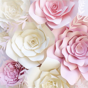 1pcs 30cm DIY Artificial Paper Flowers Wedding Decoration Backdrop Birthday Party Artificial Rose Flowers Paper Flower Crafts