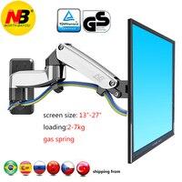 NB F150 7kg 75x75 100x100 Gas spring dual arm PLASMA lcd mount wall bracket tv holder