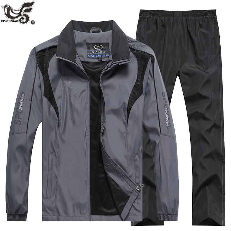 Brand Tracksuit Men`s sportswear Sweatshirt +Pants 2pcs Clothing Set outwearTraining Course Track Suit joggers Sport Suit Men