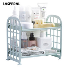Lasperal Multifunction Double Layer Sundries Storage Holder & Rack for Kitchen Bathroom Desktop Makeup Organizer Display Shelf(China)