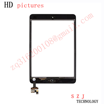New 7.85'' inch Digitizer Touch Screen with IC Connector & HOME FLEX Assembly for iPad mini White and Black free shipping|touch screen|inch touch screen|touch screen 7 inch -