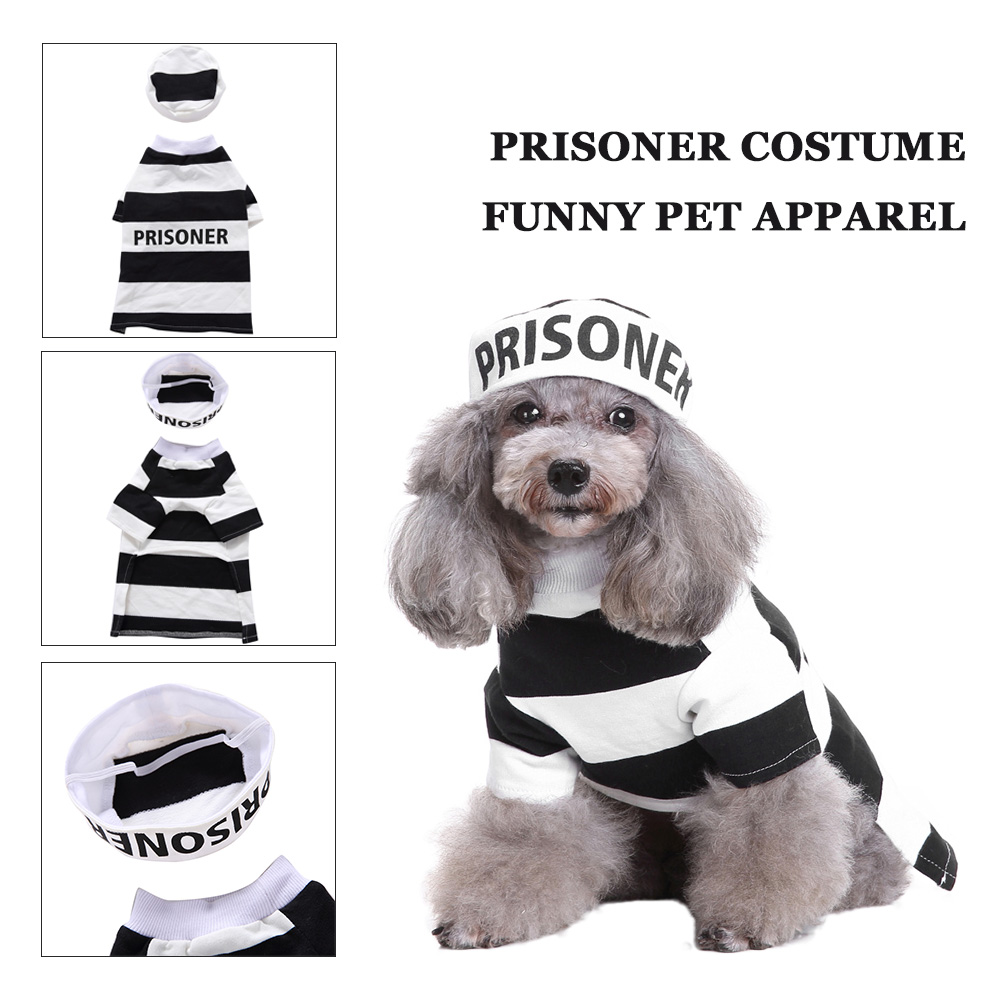 0705fd689953b Pet Costume Policeman Style Dog Jeans Clothes Cat Funny Apparel Halloween  Xmas Suit-in Cat Clothing from Home   Garden on Aliexpress.com