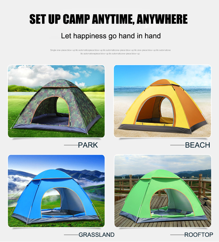 Automatic Pop Up Outdoor Camping Tent 1-4 Person Family Ultralight Sun Shelter