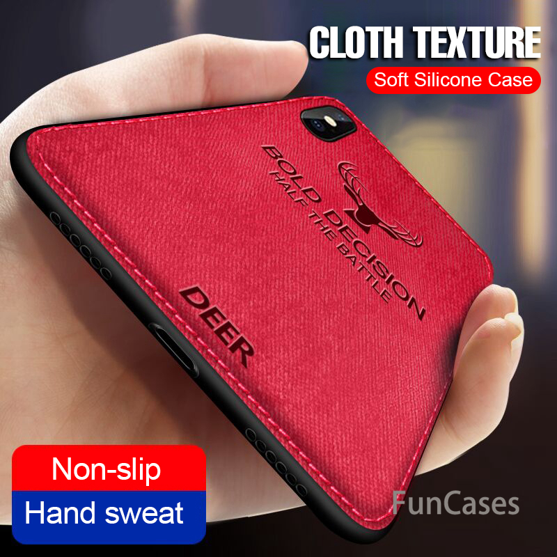 Soft Silicone Cloth <font><b>Case</b></font> For <font><b>IPhone</b></font> <font><b>X</b></font> XR <font><b>XS</b></font> MAX TPU Phone <font><b>Case</b></font> <font><b>Full</b></font> Cover For <font><b>IPhone</b></font> XR <font><b>XS</b></font> MAX <font><b>X</b></font> <font><b>Shockproof</b></font> Deer <font><b>Case</b></font> Back Cover image