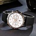 Curren famosa marca homens round dial rubber band relógio de pulso dos homens com calendar8066