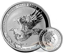 Wholesale - Free Shipping 300pcs/lot,2015 Australian $1 Wedge Tailed Eagle 1oz Silver Coin